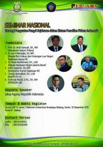 Seminar Nasional Strategi Penguatan Fungsi Kejaksaan dalam Sistem Peradilan Pidana Indonesia