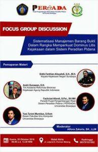 Focus Group Discussion: Sistematisasi Manajemen Barang Bukti Kejaksaan