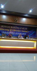 Ketua Persada dalam Bonsai dengan Pakar UB